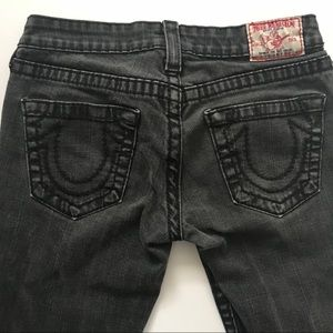 True Religion Women's Skinny Jeans Black Size 28